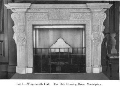 The Oak Drawing Room mantlepiece