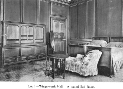 Wingerworth Hall typical bedroom