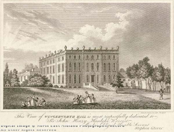 Wingerworth Hall c1800