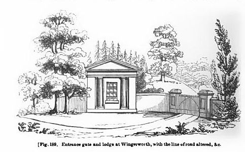 Wingerworth Hall entrance gate and lodge