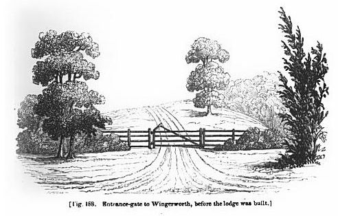 entrance gate to wingerworth before the lodge