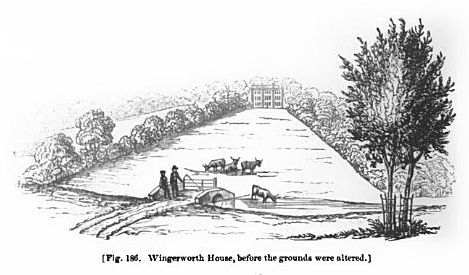 wingerworth house before grounds altered